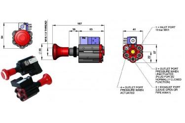 PTO PANEL/DASH MOUNTED AIR CONTROL VALVE WITH HANDBRAKE INTERLOCK