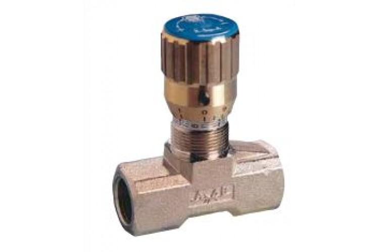 """TOGNELLA Brass flow control valve 1/4"""" BSP"""