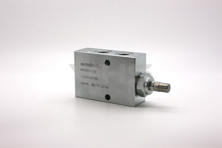 "Oleostar 3/8"" Pressure Reducing Valve, 40-110 Bar Spring, Steel Body"